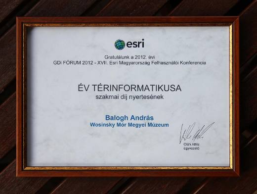GEOINFORMATICS EXPERT OF THE YEAR