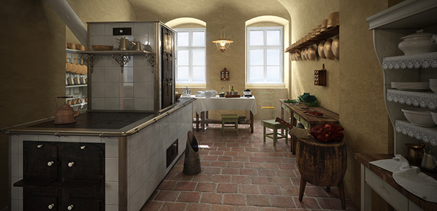 Kitchen of the Almásy-residence at Gyula