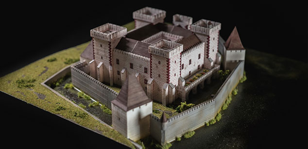 Theoretical reconstruction maquettes of Castle Tata