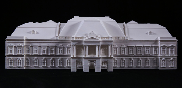 Apponyi manor in Lengyel – tangible maquette
