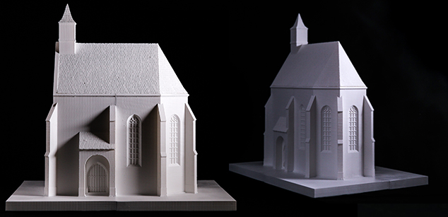 Gothic church in Bonyhád – tangible theoretical reconstruction maquette