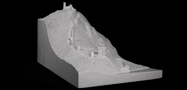 Visegrád Castle in the 14th century – theoretical reconstruction maquett