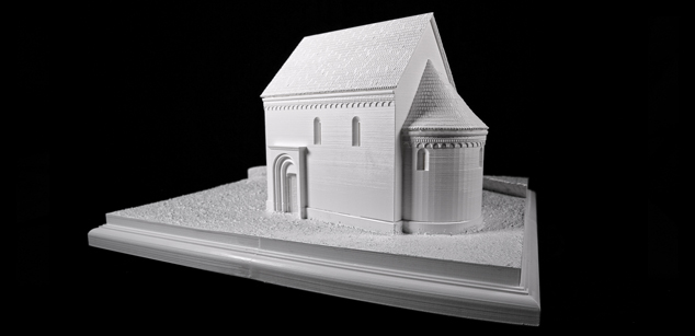 Church of Fövenypuszta – theoretical reconstruction maquette