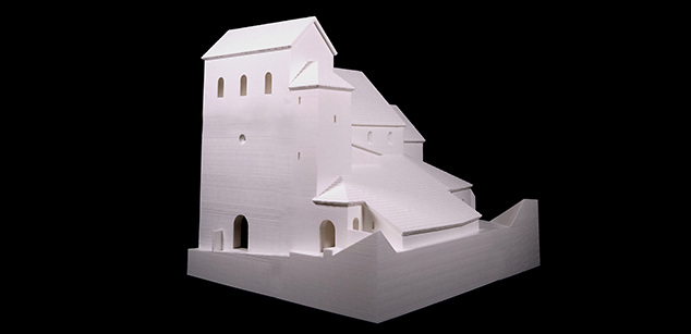 The 11th century parish church of Visegrád – maquette