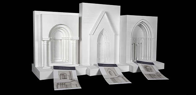 Eger Cathedral doorway reconstruction maquettes