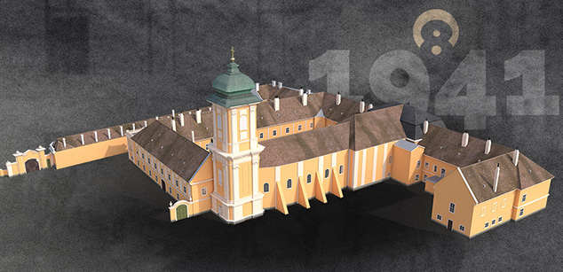 Premonstratensian Abbey of Csorna – 3D reconstruction