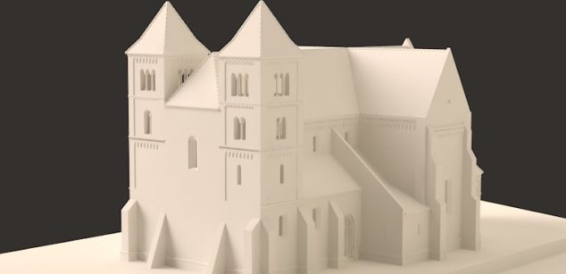 Premonstratensian abbeys 3D printed maquettes