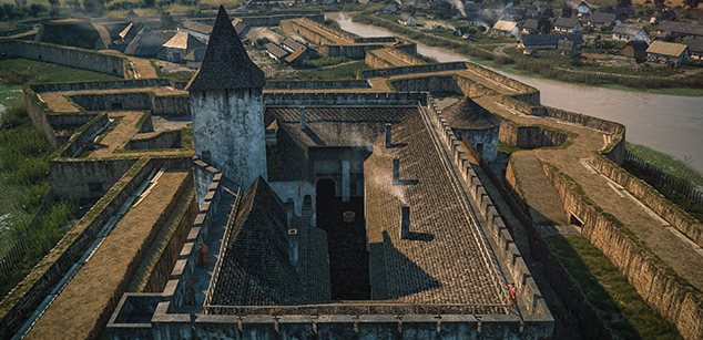 Virtual reconstruction of Gyula Castle