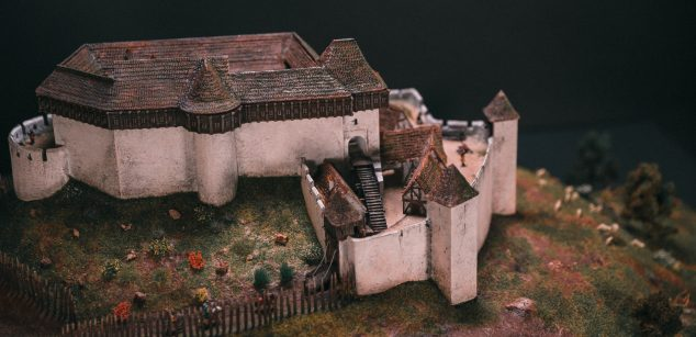 Castle Máré in the 16th century maquette