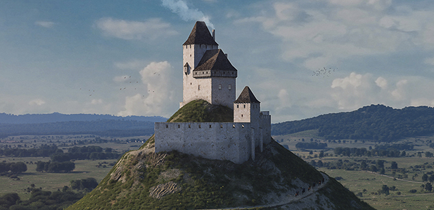 The castle of Hegyesd in the 16th century